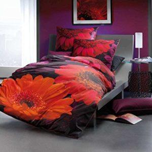 Hübsche Bettwäsche aus Satin - schwarz 155x220 von Kaeppel