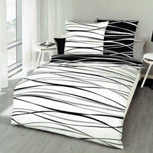 Schöne Bettwäsche aus Satin - schwarz 155x220 von Kaeppel