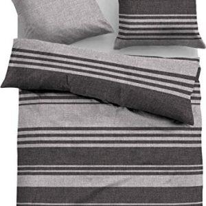 Traumhafte Bettwäsche aus Satin - schwarz 155x220 von TOM TAILOR