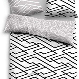 Hübsche Bettwäsche aus Satin - schwarz 155x220 von TOM TAILOR