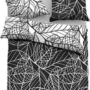 Schöne Bettwäsche aus Satin - schwarz weiß 135x200 von TOM TAILOR