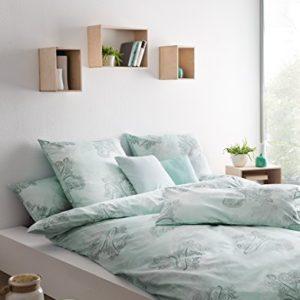 Hübsche Bettwäsche aus Satin - türkis 135x200 von Estella