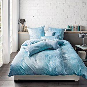 Schöne Bettwäsche aus Satin - türkis 135x200 von Estella