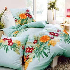 Schöne Bettwäsche aus Satin - türkis 135x200 von Kaeppel