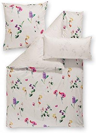 Hübsche Bettwäsche aus Satin - weiß 135x200 von Estella