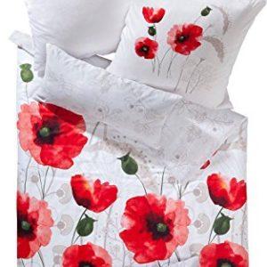 Hübsche Bettwäsche aus Satin - weiß 155x220 von Erwin Müller