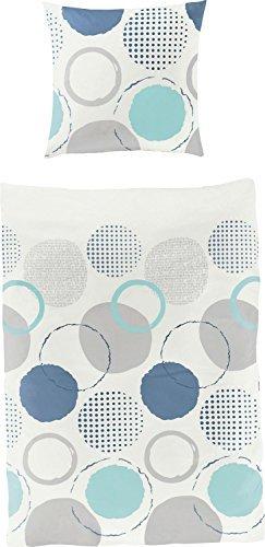 Schöne Bettwäsche aus Seersucker - blau 135x200 von Bierbaum