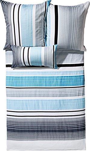 Traumhafte Bettwäsche aus Seersucker - blau 155x220 von Erwin Müller