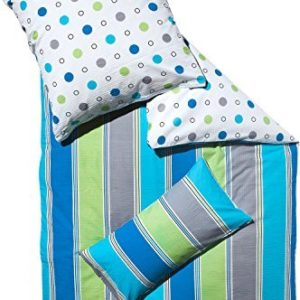 Schöne Bettwäsche aus Seersucker - blau 155x220 von Erwin Müller