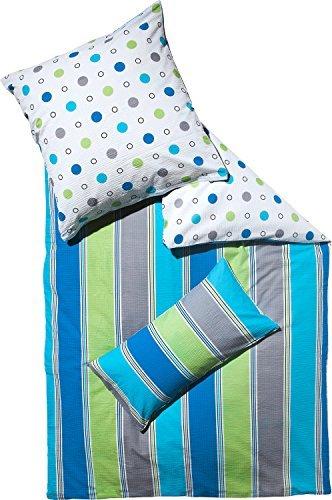 sch ne bettw sche aus seersucker blau 155x220 von erwin m ller bettw sche. Black Bedroom Furniture Sets. Home Design Ideas