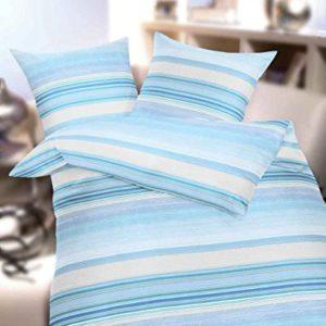 Hübsche Bettwäsche aus Seersucker - blau 155x220 von Kaeppel
