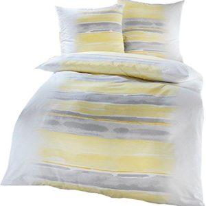 Schöne Bettwäsche aus Seersucker - gelb 135x200 von Kaeppel