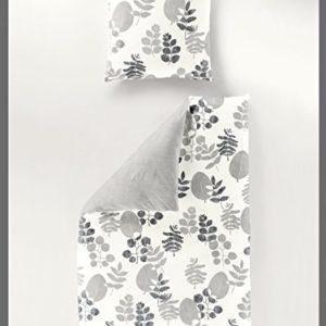 Kuschelige Bettwäsche aus Seersucker - grau 135x200 von Bierbaum