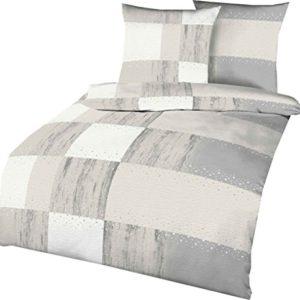 Traumhafte Bettwäsche aus Seersucker - grau 155x220 von Kaeppel