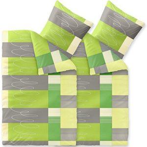 Traumhafte Bettwäsche aus Seersucker - grün 135x200 von CelinaTex