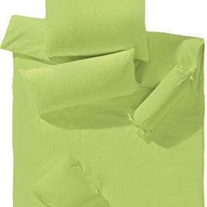 Kuschelige Bettwäsche aus Seersucker - grün 155x200 von Erwin Müller