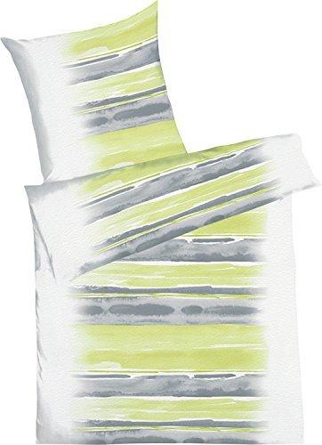kuschelige bettw sche aus seersucker gr n 155x220 von. Black Bedroom Furniture Sets. Home Design Ideas