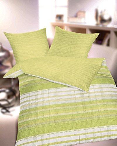 kuschelige bettw sche aus seersucker gr n 155x220 von kaeppel bettw sche. Black Bedroom Furniture Sets. Home Design Ideas