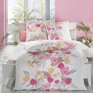 Traumhafte Bettwäsche aus Seersucker - rosa 135x200 von Kaeppel