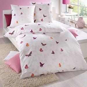 Kuschelige Bettwäsche aus Seersucker - rosa 135x200 von Kaeppel