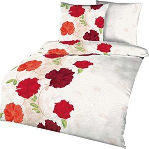 Hübsche Bettwäsche aus Seersucker - rot 135x200 von Kaeppel
