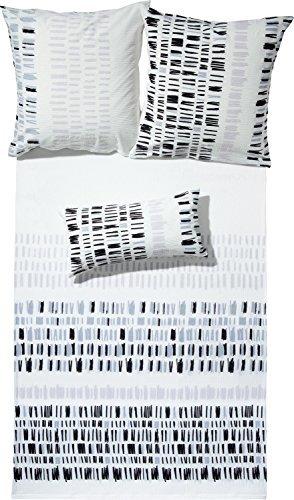 Traumhafte Bettwäsche aus Seersucker - schwarz 135x200 von Erwin Müller