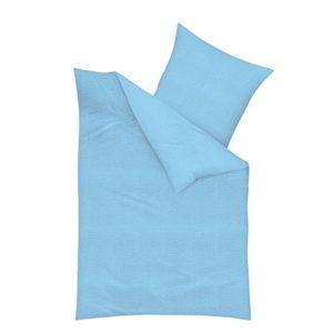 Traumhafte Bettwäsche aus Seersucker - türkis 135x200 von Kaeppel