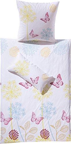 Hübsche Bettwäsche aus Seersucker - weiß 135x200 von Erwin Müller