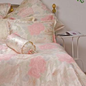 Traumhafte Bettwäsche aus Seide - rosa 135x200 von Orifashion