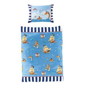 Schöne Bettwäsche aus Baumwolle - blau 100x135 von Bierbaum