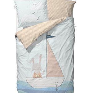 Traumhafte Bettwäsche aus Baumwolle - blau 135x200 von Covvers & Co