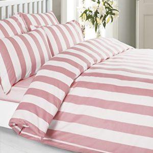 Hübsche Bettwäsche aus Baumwolle - rosa 140x200 von Louisiana Bedding