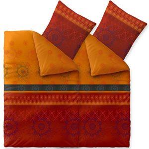 Hübsche Bettwäsche aus Baumwolle - rot 135x200 von CelinaTex