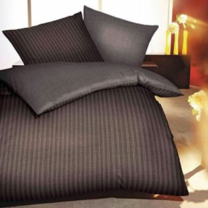 Hübsche Bettwäsche aus Biber - braun 200x200 von Kaeppel