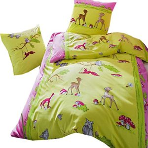 Hübsche Bettwäsche aus Biber - rosa 135x200 von Kaeppel