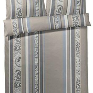 Hübsche Bettwäsche aus Mako-Satin - grau 155x220 von Joop!