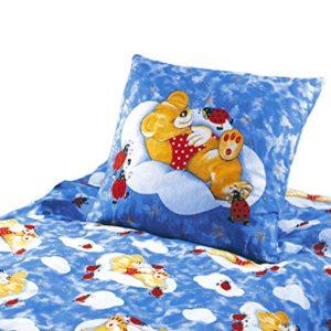 Schöne Bettwäsche aus Renforcé - blau 100x135