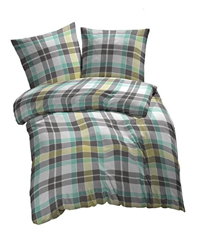 traumhafte bettw sche aus renforc gr n 200x200 von et rea bettw sche. Black Bedroom Furniture Sets. Home Design Ideas