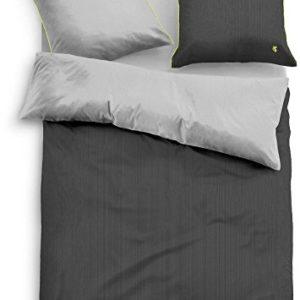 Hübsche Bettwäsche aus Satin - grün 155x220 von TOM TAILOR