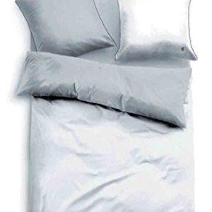 Hübsche Bettwäsche aus Satin - weiß 135x200 von TOM TAILOR