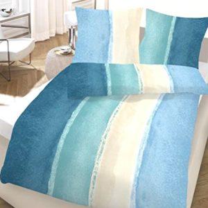 Kuschelige Bettwäsche aus Seersucker - blau 135x200 von Ido