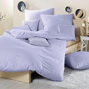 Kuschelige Bettwäsche aus Batist - blau 155x220 von Lorena Textil