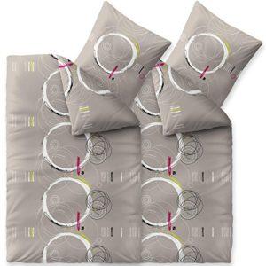Hübsche Bettwäsche aus Baumwolle - grau 155x220 von CelinaTex
