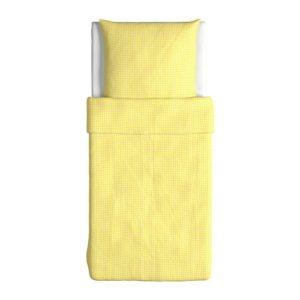 Schöne Bettwäsche - gelb 140x200 von Ikea