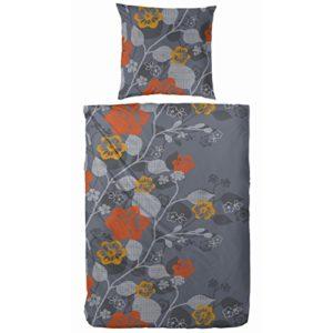 Kuschelige Bettwäsche aus Fleece - grau 135x200 von Hahn Haustextilien