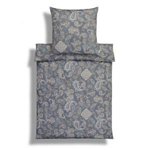 Hübsche Bettwäsche aus Jersey - grau 135x200 von Estella