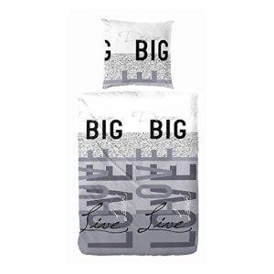 Schöne Bettwäsche aus Renforcé - grau 200x200 von Primera