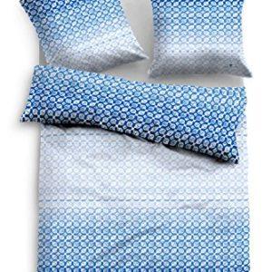 Kuschelige Bettwäsche aus Satin - blau 135x200 von TOM TAILOR
