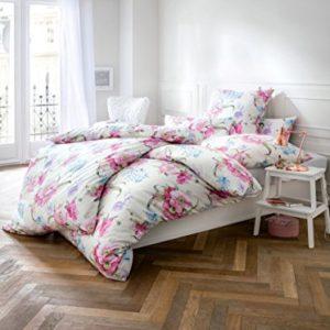 Hübsche Bettwäsche aus Satin - rosa 135x200 von Estella