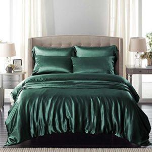 Traumhafte Bettwäsche aus Seide - grün von ElleSilk